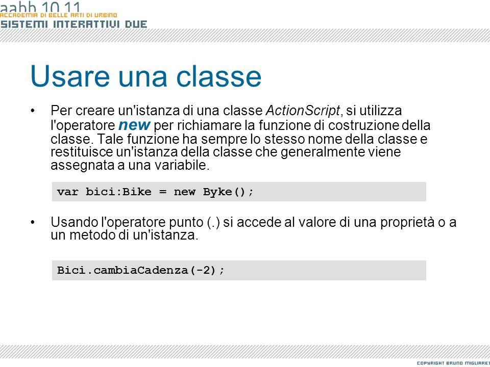 Usare una classe