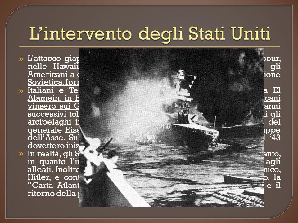 L'intervento degli Stati Uniti