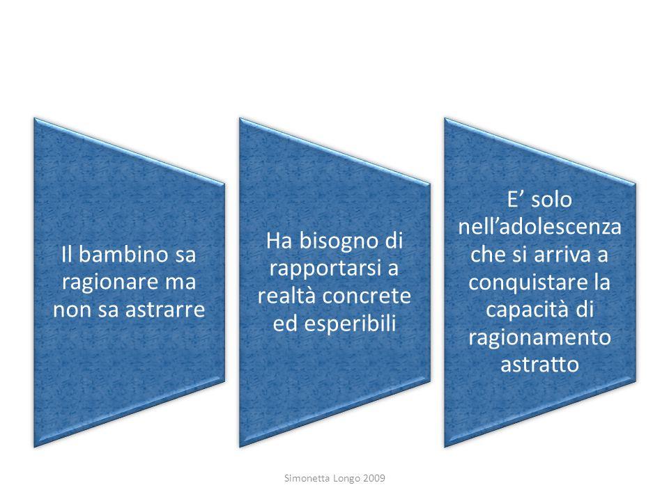 Simonetta Longo 2009 Il bambino sa ragionare ma non sa astrarre
