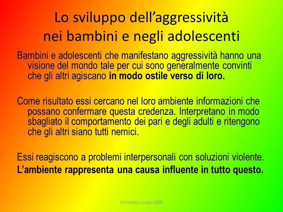 Lo sviluppo dell'aggressività nei bambini e negli adolescenti