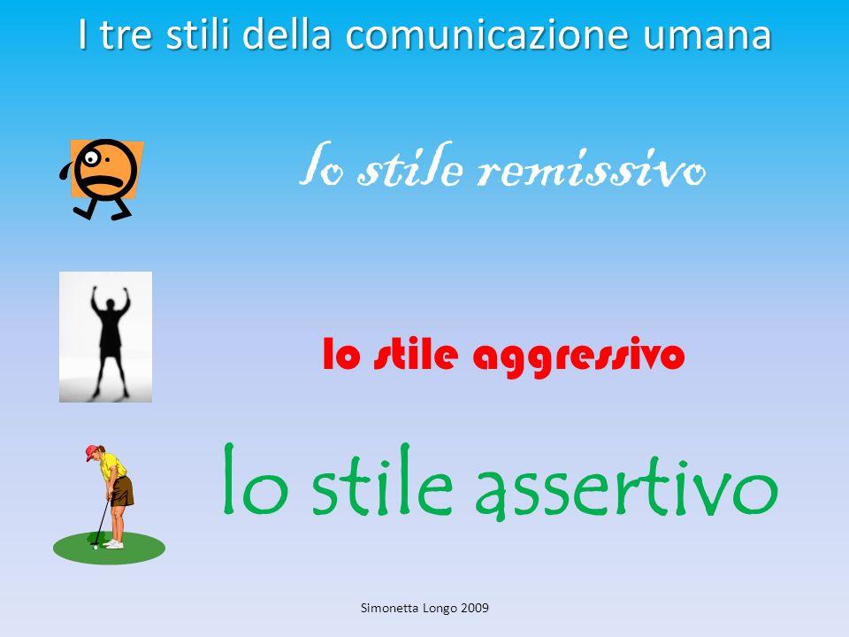 I tre stili della comunicazione umana lo stile remissivo lo stile aggressivo lo stile assertivo