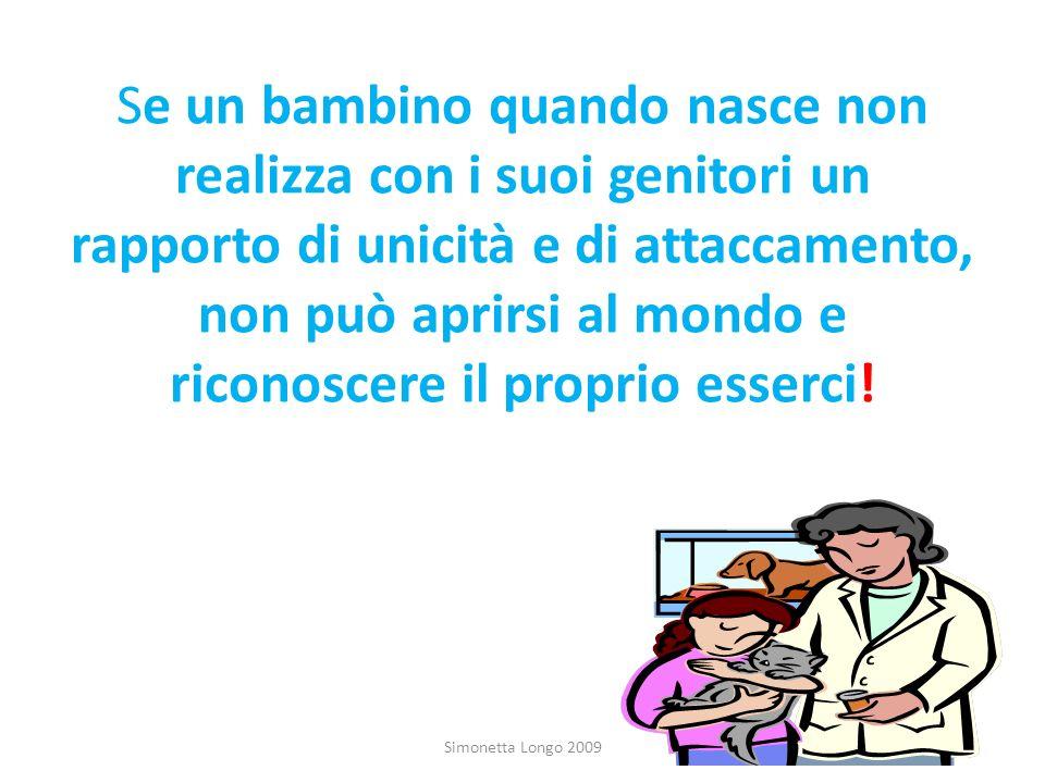 Se un bambino quando nasce non realizza con i suoi genitori un rapporto di unicità e di attaccamento, non può aprirsi al mondo e riconoscere il proprio esserci!