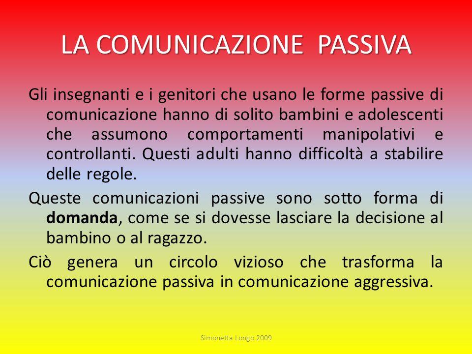 LA COMUNICAZIONE PASSIVA