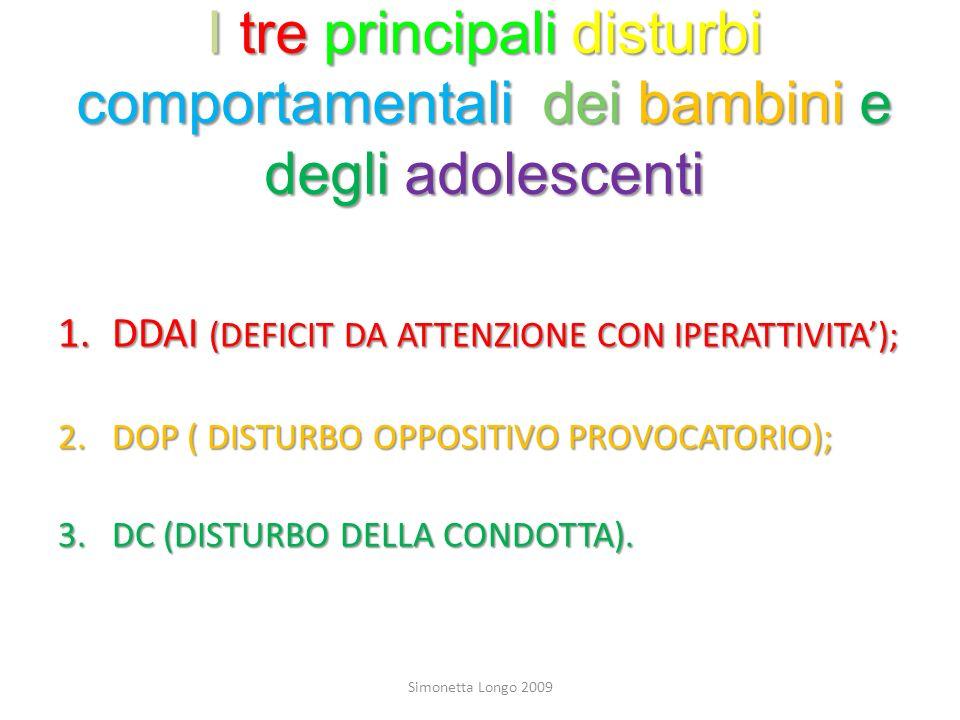 I tre principali disturbi comportamentali dei bambini e degli adolescenti