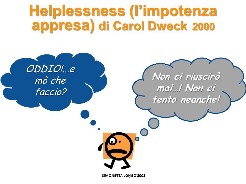 Helplessness (l'impotenza appresa) di Carol Dweck 2000