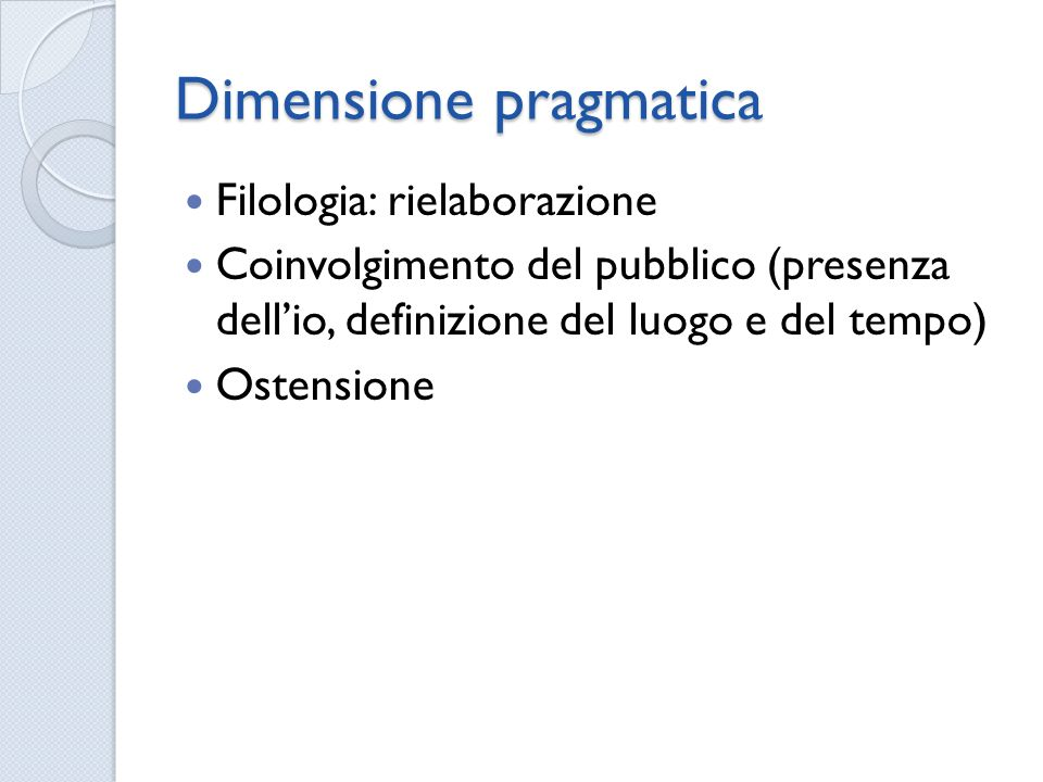 Dimensione pragmatica