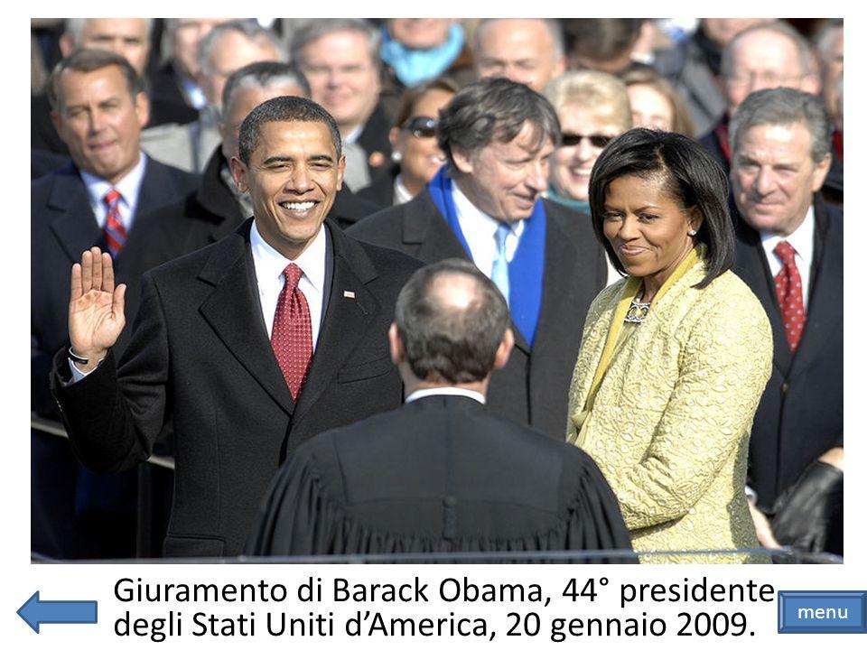 Giuramento di Barack Obama, 44° presidente degli Stati Uniti d'America, 20 gennaio 2009.