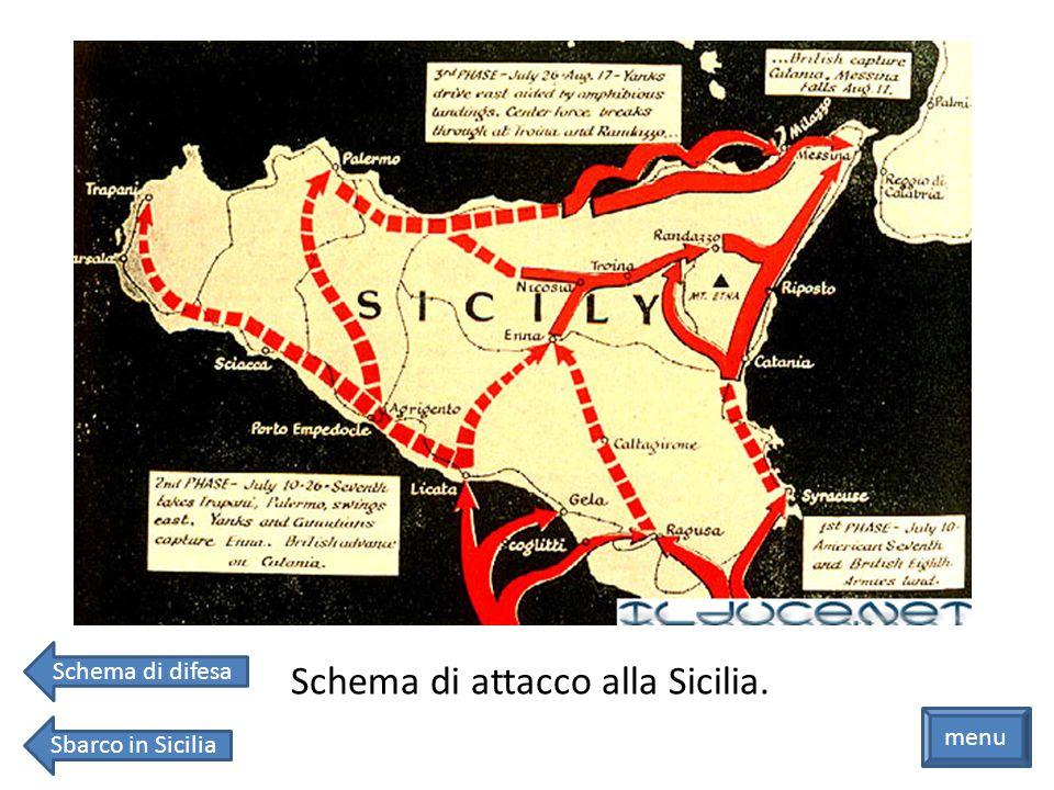 Schema di attacco alla Sicilia.