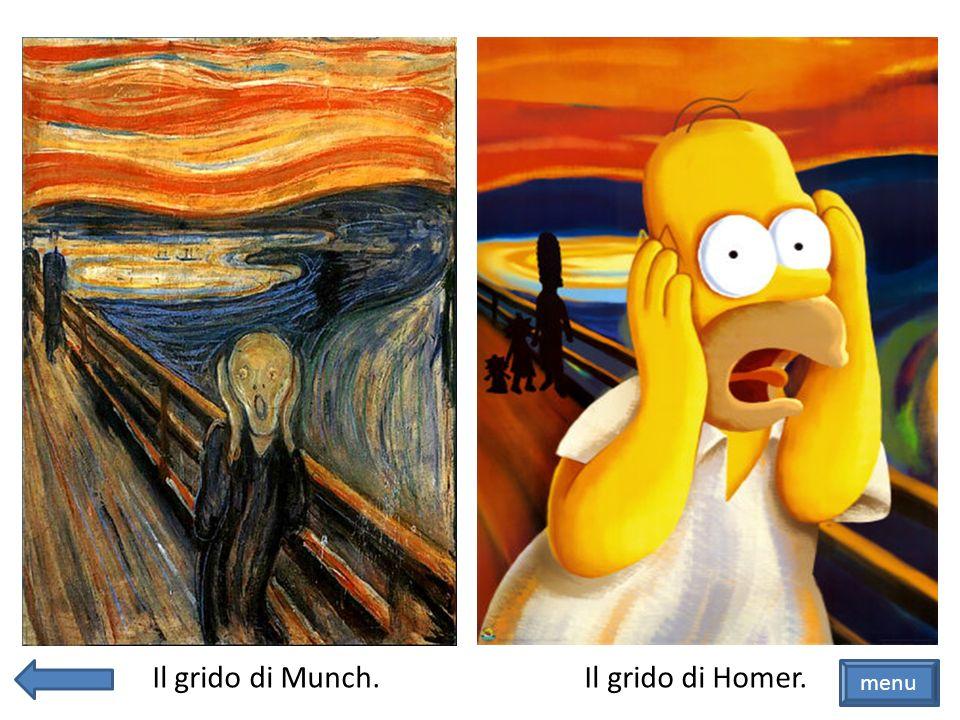 Il grido di Munch. Il grido di Homer. menu