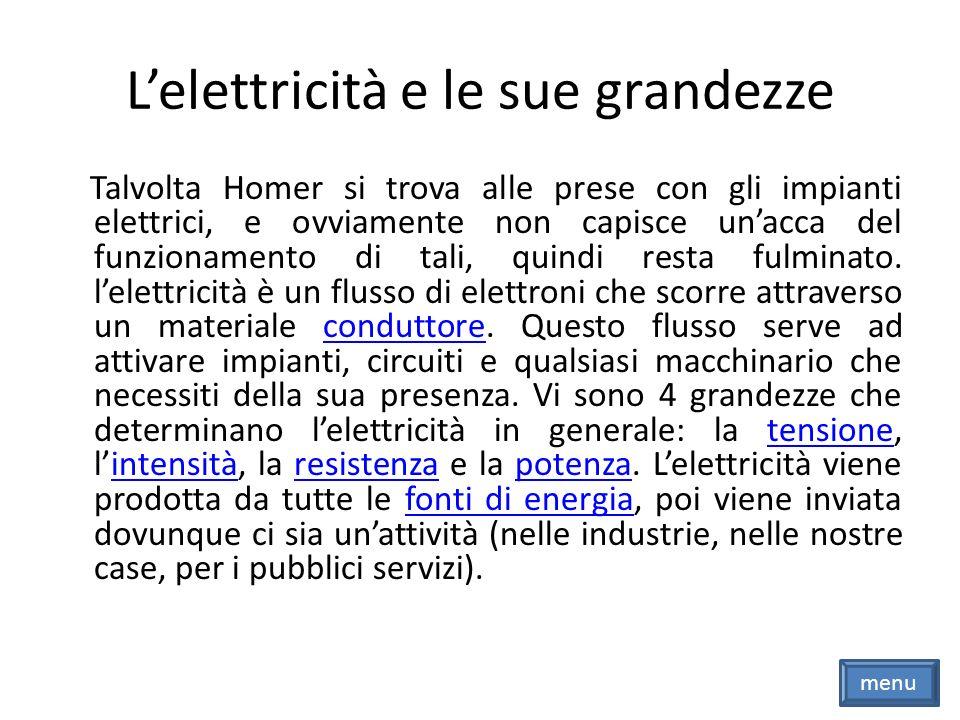 L'elettricità e le sue grandezze