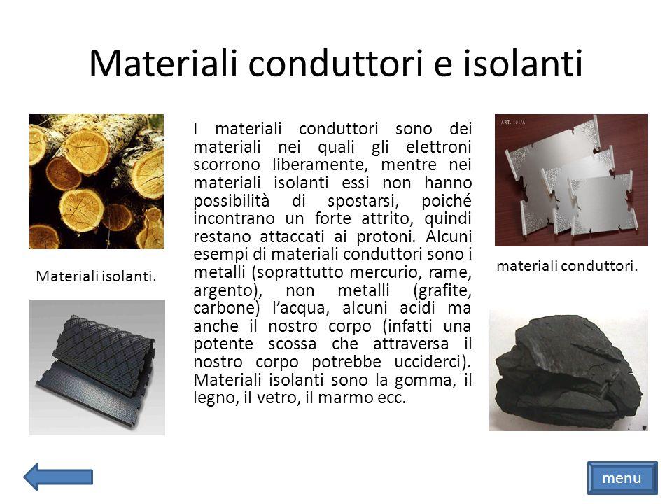 Materiali conduttori e isolanti
