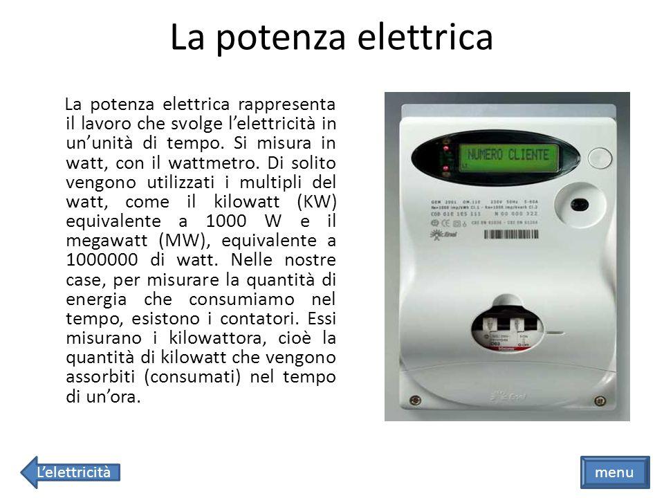 La potenza elettrica