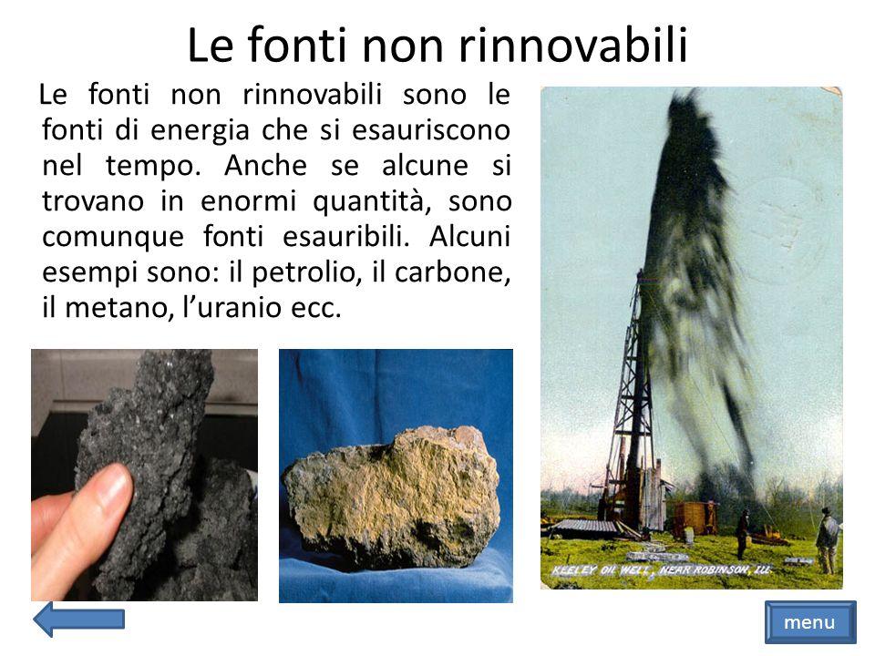 Le fonti non rinnovabili