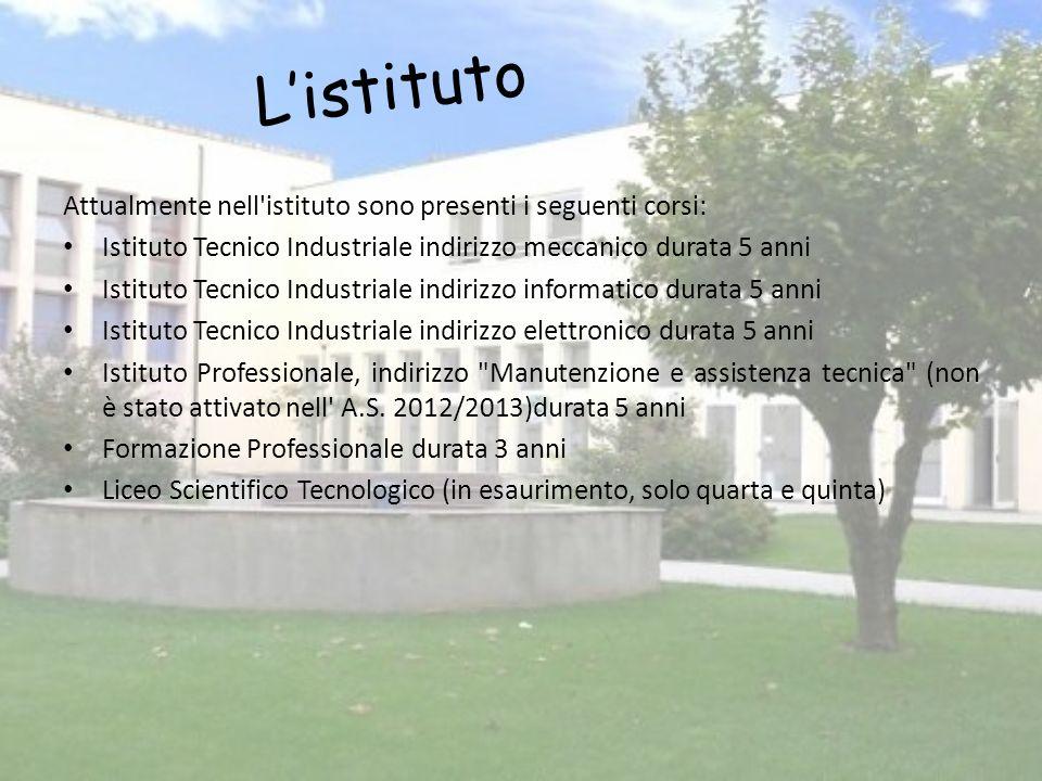 L'istituto Attualmente nell istituto sono presenti i seguenti corsi: