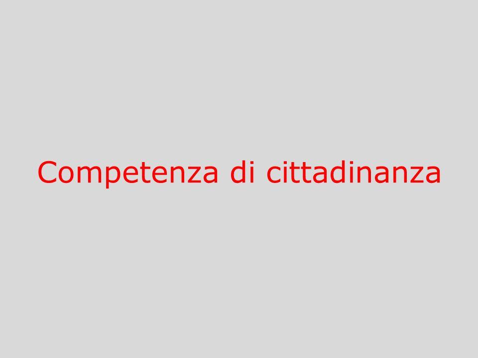Competenza di cittadinanza
