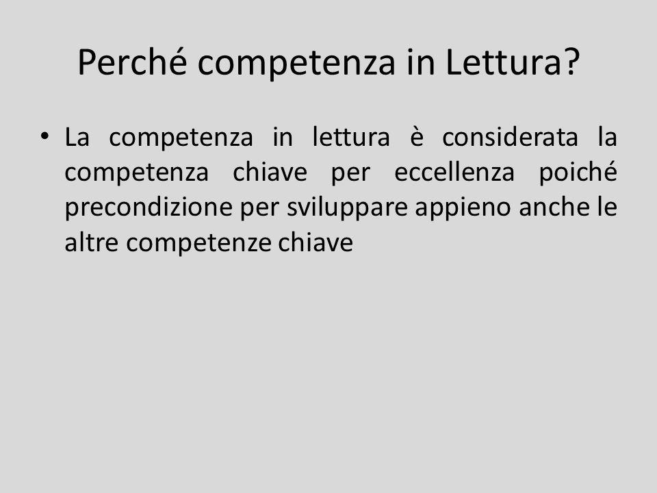 Perché competenza in Lettura