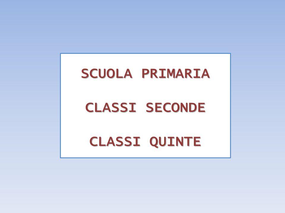 SCUOLA PRIMARIA CLASSI SECONDE CLASSI QUINTE