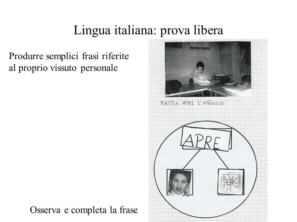 Lingua italiana: prova libera