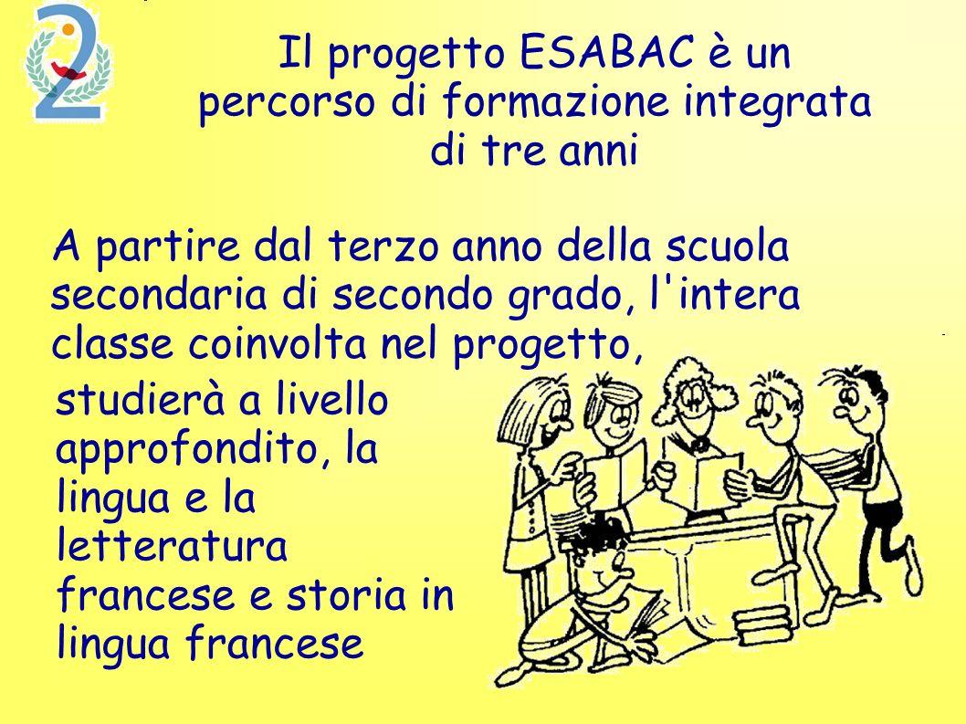 Il progetto ESABAC è un percorso di formazione integrata di tre anni