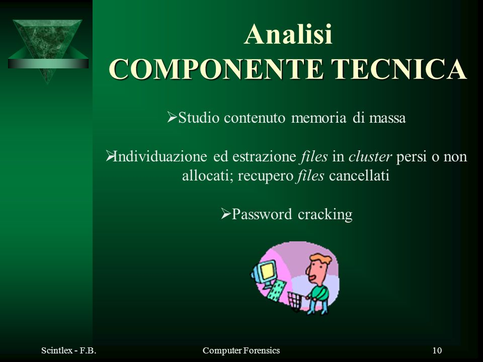Analisi COMPONENTE TECNICA