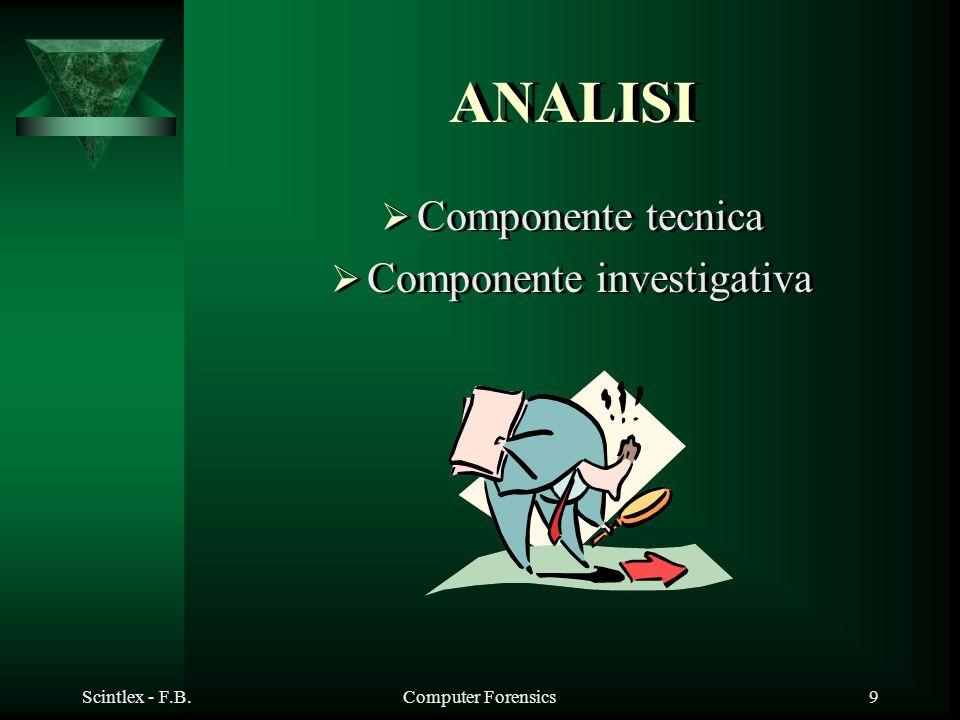 Componente investigativa