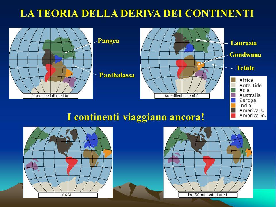 LA TEORIA DELLA DERIVA DEI CONTINENTI I continenti viaggiano ancora!