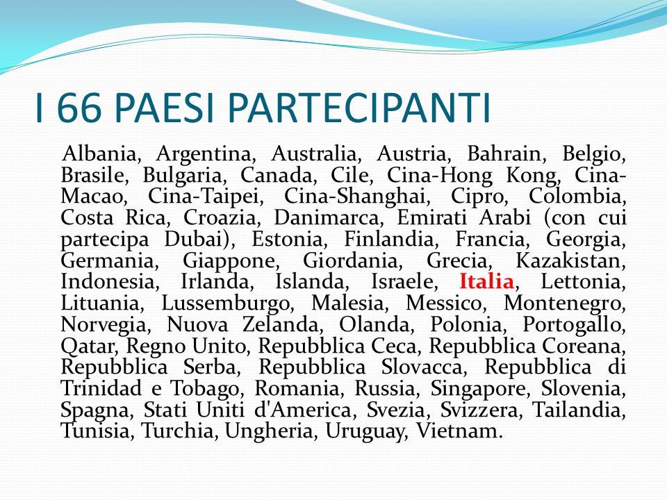 I 66 PAESI PARTECIPANTI