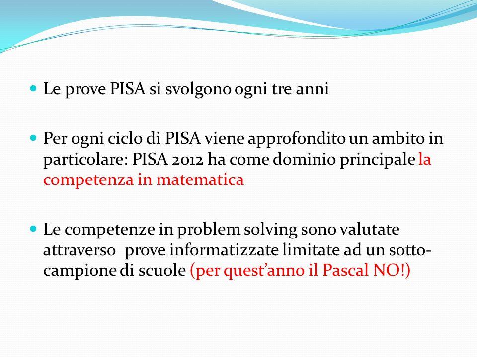 Le prove PISA si svolgono ogni tre anni