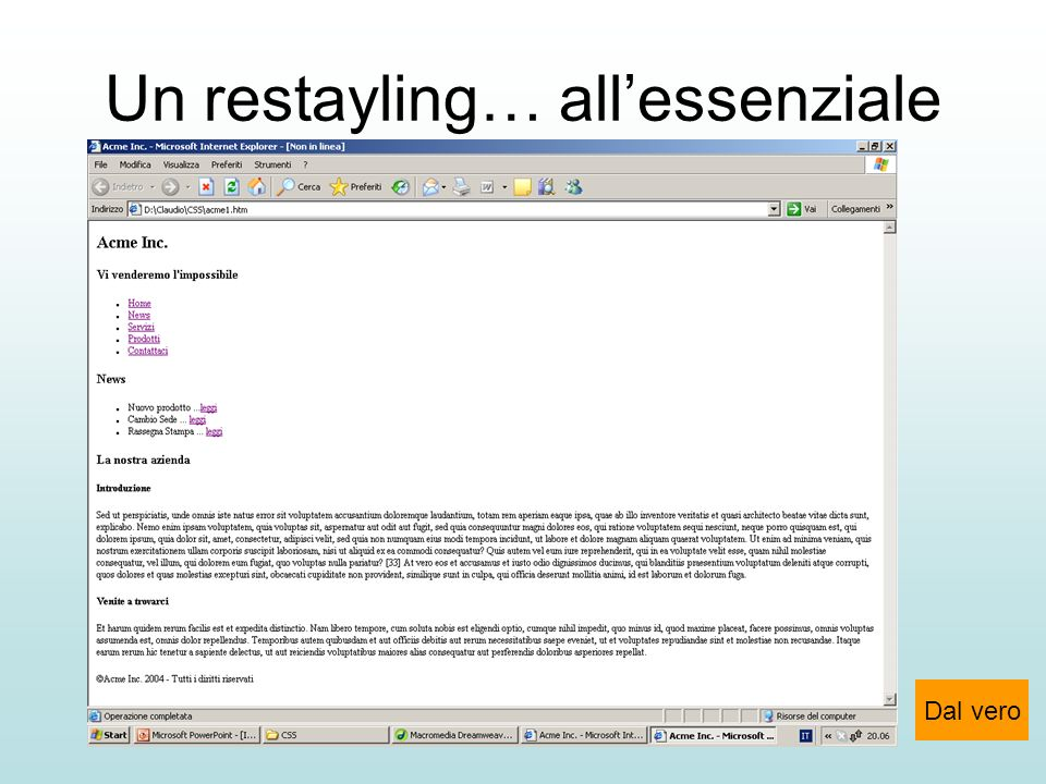 Un restayling… all'essenziale