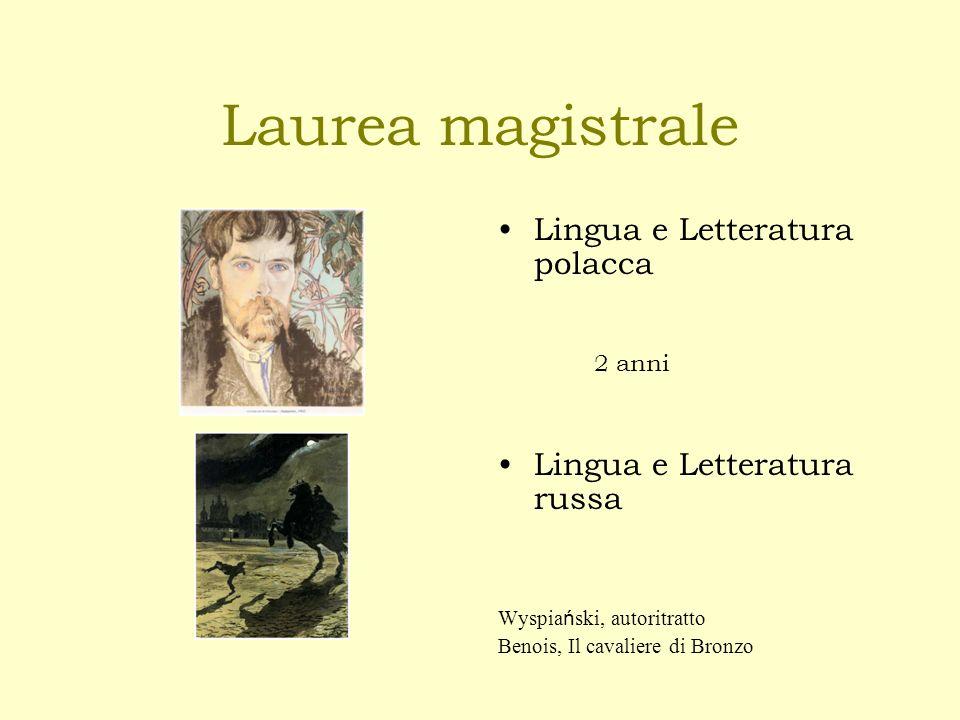 Laurea magistrale Lingua e Letteratura polacca