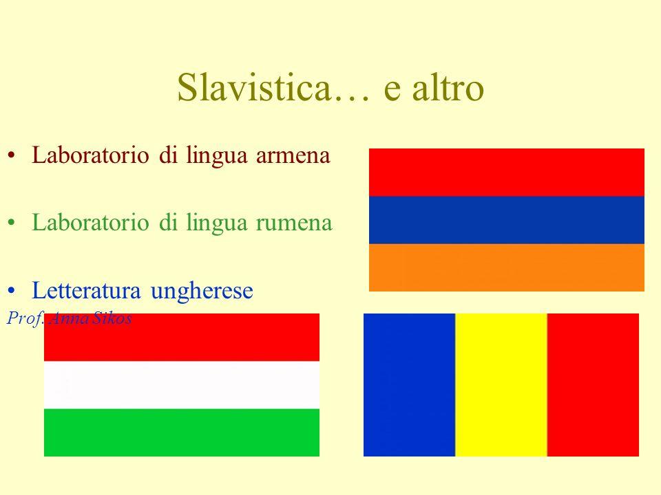 Slavistica… e altro Laboratorio di lingua armena
