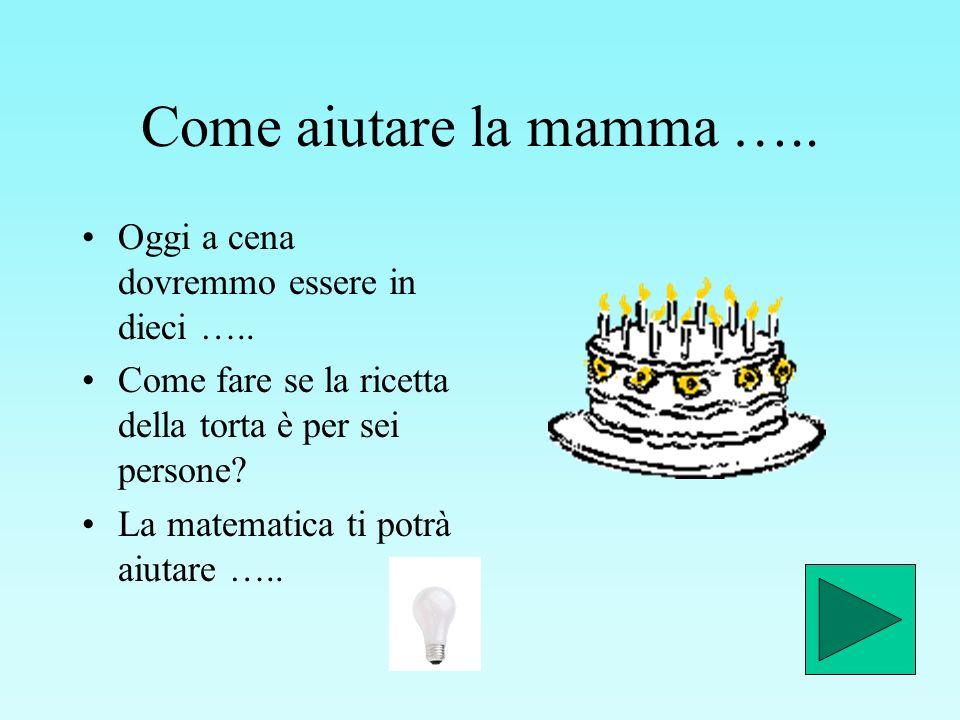 Come aiutare la mamma ….. Oggi a cena dovremmo essere in dieci …..