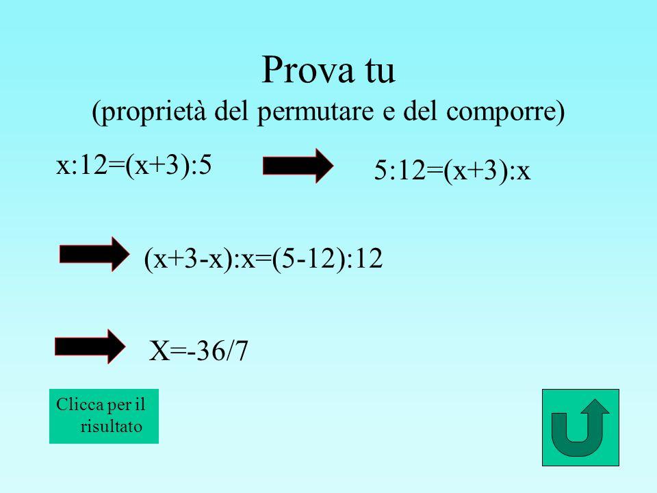 Prova tu (proprietà del permutare e del comporre)