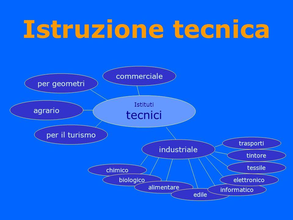 Istruzione tecnica tecnici commerciale per geometri agrario
