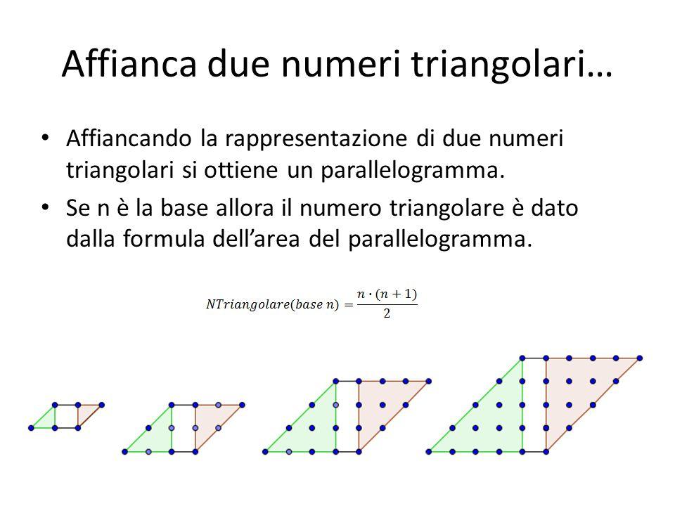Affianca due numeri triangolari…