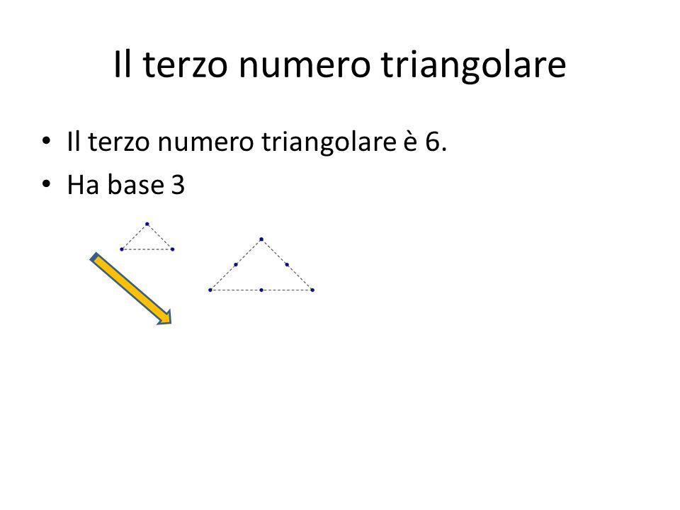 Il terzo numero triangolare
