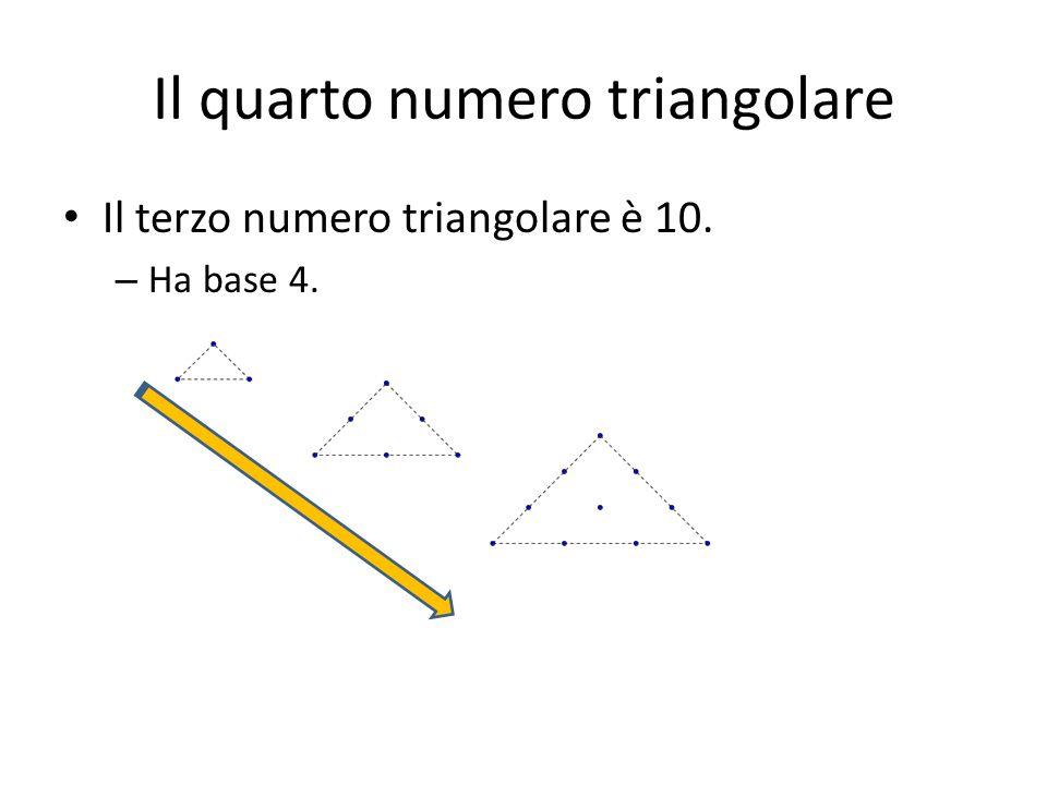 Il quarto numero triangolare