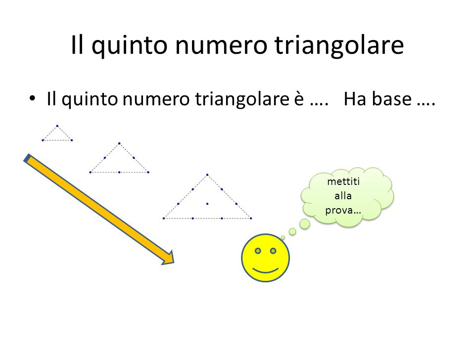 Il quinto numero triangolare