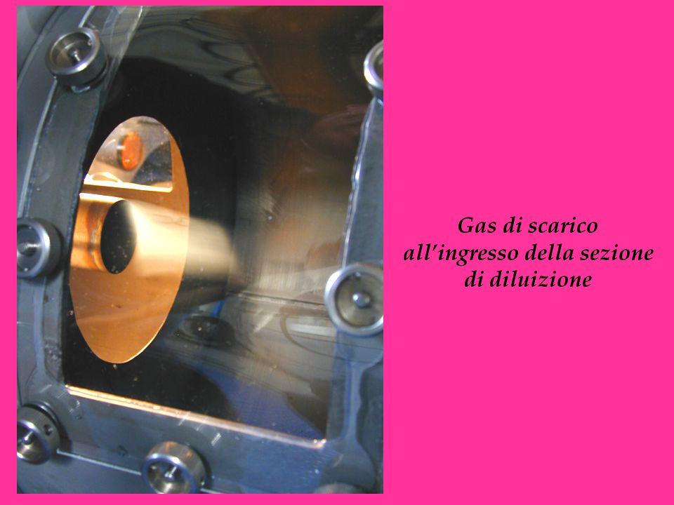 Gas di scarico all'ingresso della sezione di diluizione
