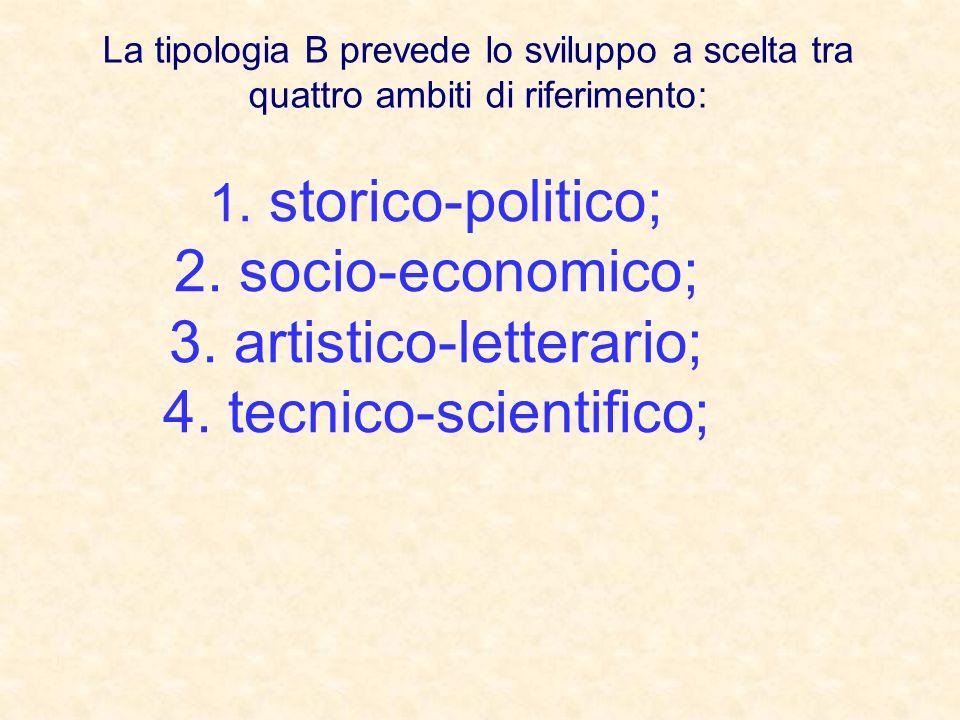 artistico-letterario; tecnico-scientifico;