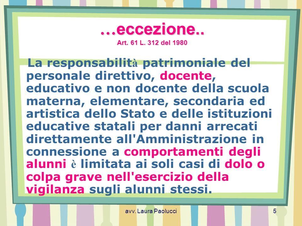 …eccezione.. Art. 61 L. 312 del 1980