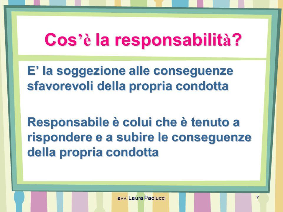 Cos'è la responsabilità