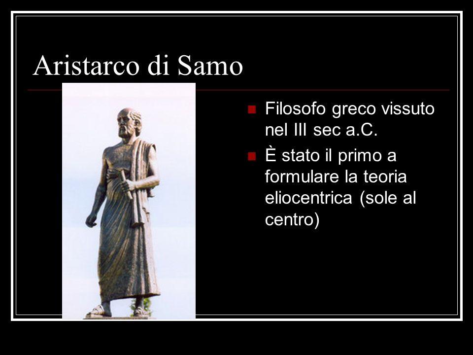 Aristarco di Samo Filosofo greco vissuto nel III sec a.C.