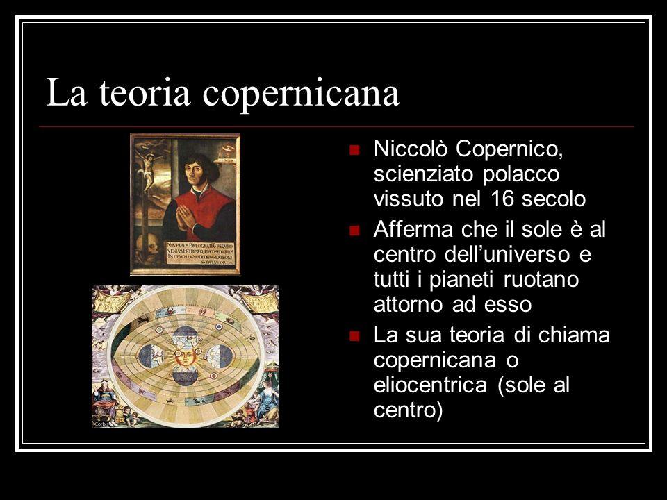 La teoria copernicana Niccolò Copernico, scienziato polacco vissuto nel 16 secolo.