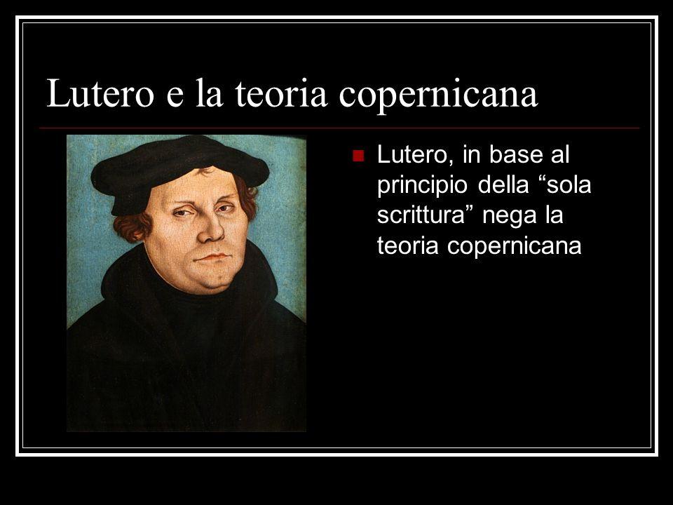 Lutero e la teoria copernicana