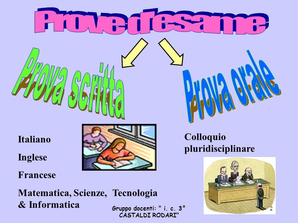 Gruppo docenti: i. c. 3° CASTALDI RODARI