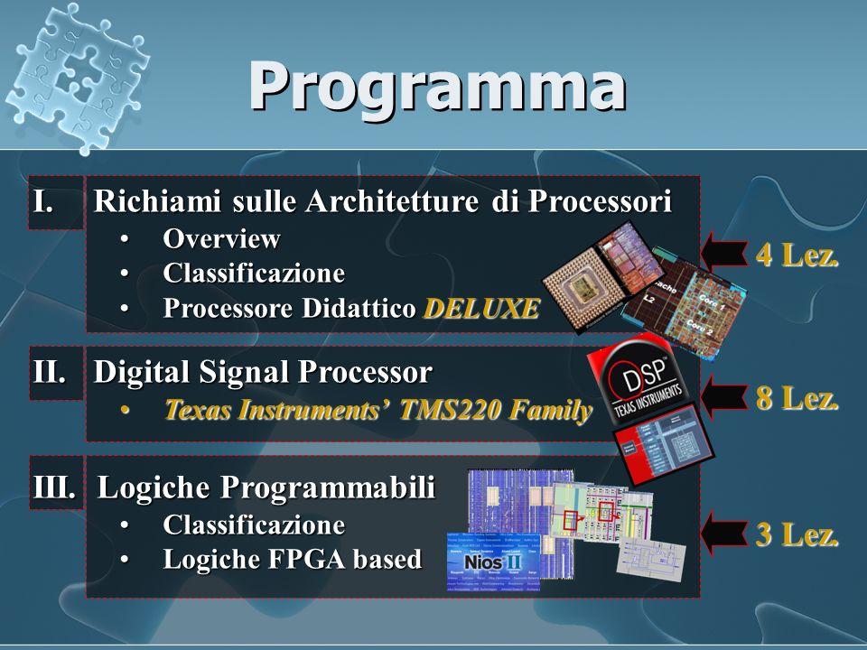 Programma Richiami sulle Architetture di Processori 4 Lez.