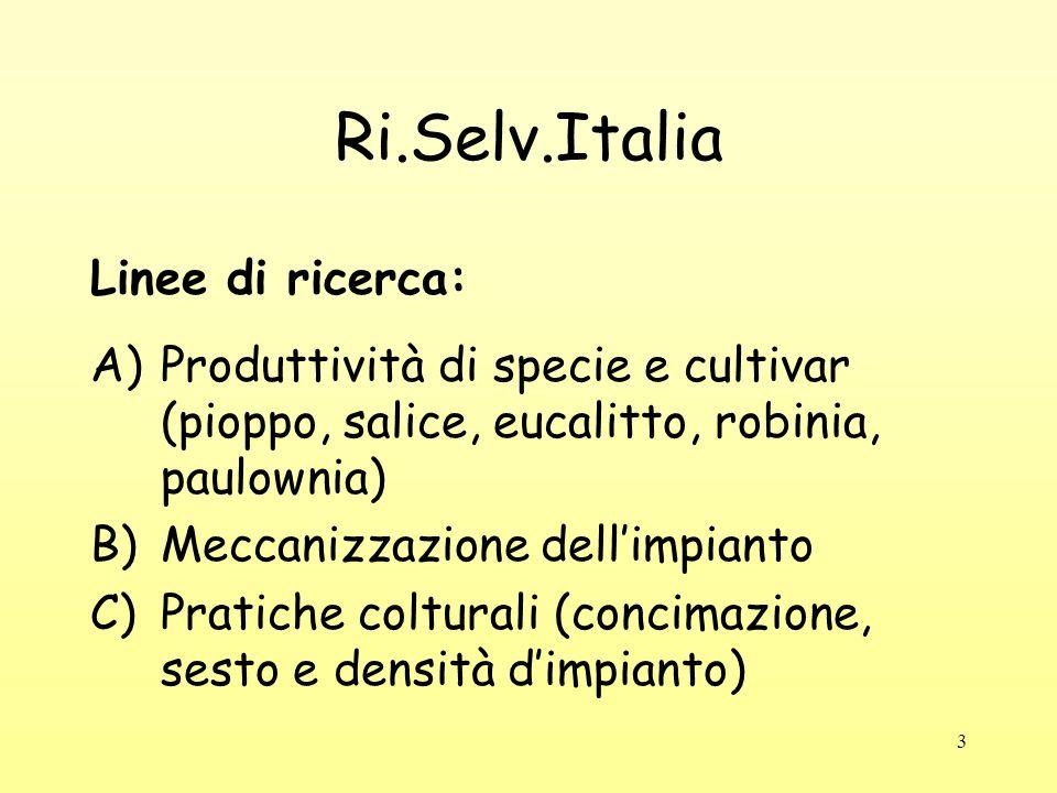 Ri.Selv.Italia Linee di ricerca: