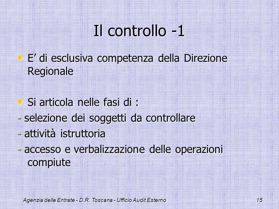 Agenzia delle Entrate - D.R. Toscana - Ufficio Audit Esterno