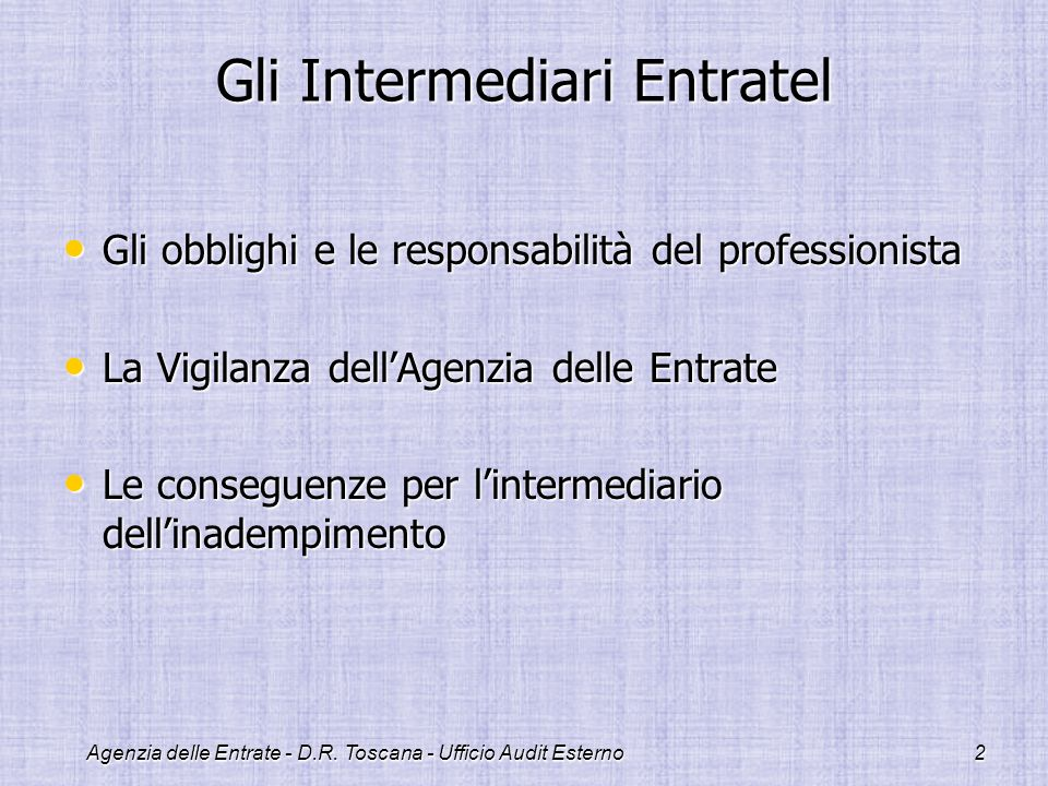 Gli Intermediari Entratel